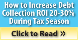 debt collection tax season strategy