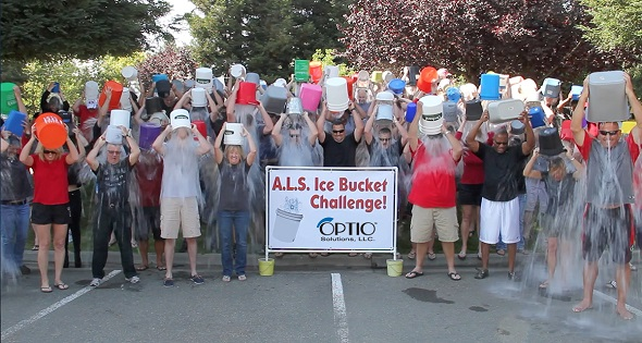 Optio Solutions Ice Bucket Challenge for ALS Philanthropy
